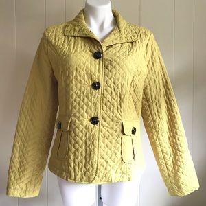Luii Yellow Waffle Weave Lightweight Jacket Sz L